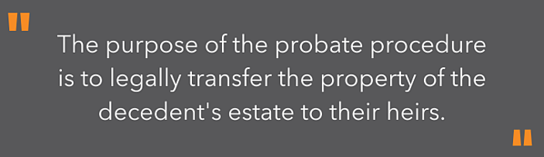 highlighted text - the purpose of probate