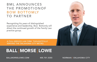 Ball Morse Lowe announces Bow Bottomly as partner.